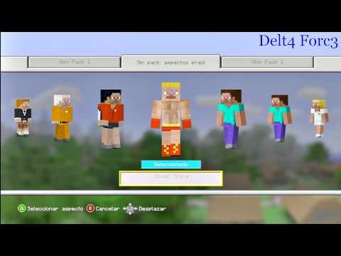 Como descargar los skins gratuitos de Minecraft Versión Xbox 360