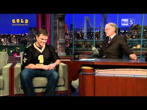 Matt Damon al David Letterman Show