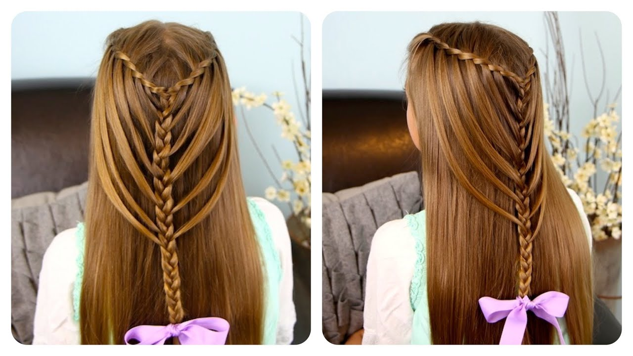 Hairstyles For Long Hair Cgh : Waterfall Twists into Mermaid Braid Cute Girls Hairstyles - YouTube