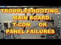 Troubleshooting Distorted Video T-Con of LCD Panel TV Repair. Vizio Sony Samsung LG Panasonic MP3