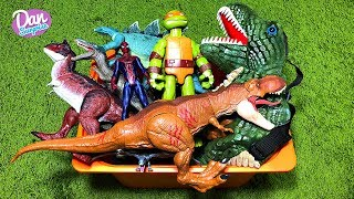 BIG BOX OF TOYS FOR KIDS: JURASSIC WORLD DINOSAURS, ANIMALS, CARS, AVENGERS, SPIDER-MAN and more!