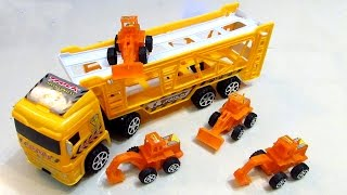 Trucks for Children - Construction Vehicles Backhoe Digger Dumper Semi-trailer Truck 2