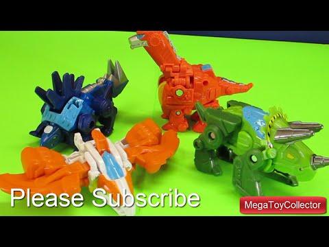 Opening 4 Dinosaur Transformer Rescue Bots Playskool Heroes