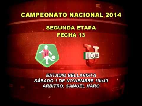 Horarios y árbitros fecha 13 del Campeonato Ecuatoriano de Fútbol Serie A