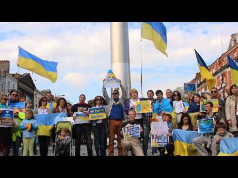 Irish protests in support of Ukraine. September 2014 Dublin