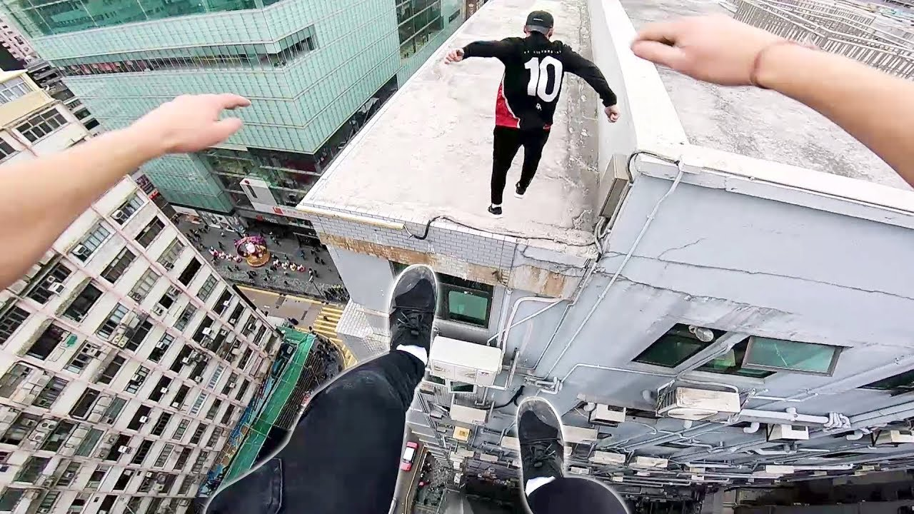 Going For The Quick Escape On A Hong Kong Rooftop