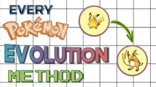 Every Pokémon Evolution Method Ever