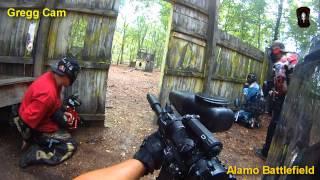 Battle at Alamo Scenario game at Top Gun Paintball part 2