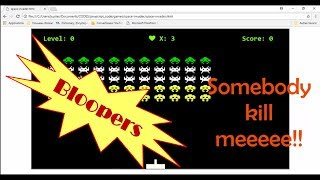 BLOOPERS!! space invaders refuse to shoot me 😀 😁