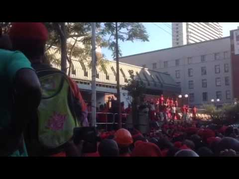 EFF remains unshaken - Julius Malema outside High Court in Pretoria