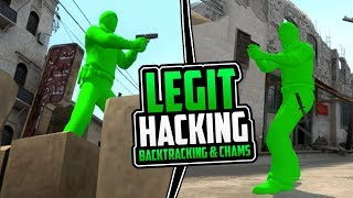 CS:GO | Legit Hacking - Backtracking & Chams Only! // 40+ Kills In-Game! #BacktrackingOP