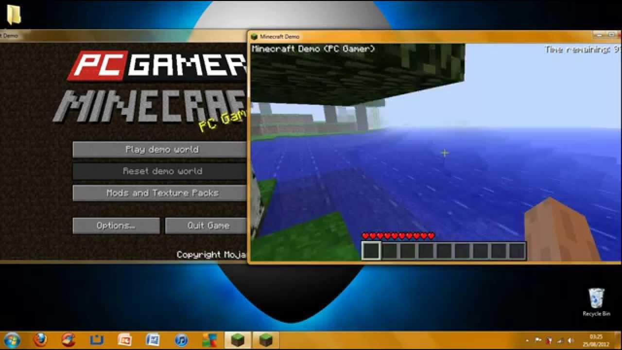 how to get minecraft demo unlimited time