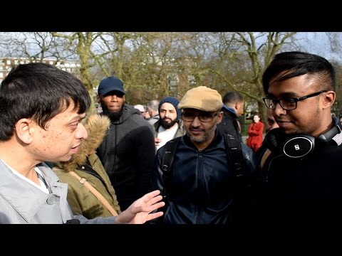**Must Watch*** P1 - Fluid or Man!? Mansur vs Atheist | Speakers Corner | Hyde Park