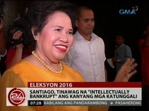 24 Oras: Sanitago, tinawag na 'intellectually bankrupt' ang kanyang mga katunggali