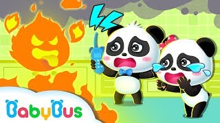 Help! Fire Strikes in Baby Panda's Home | Firefighter Rescue Team | Kids Safety Tips | BabyBus