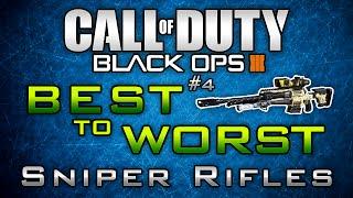 "Black Ops 3 ""Best to Worst"" #4: Sniper Rifles in BO3! ( + Diamond Sniper Showcase)"