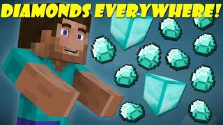 If Diamonds Weren't Rare - Minecraft