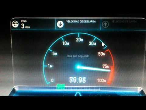 Axtel Fibra Optica Descarga y Carga 100 Mbps Mexico