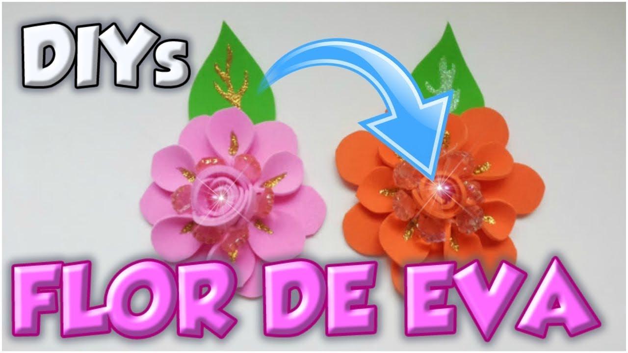Adesivo De Parede Emoji ~ Flor em EVA para apliques artesanais passo a passo YouTube