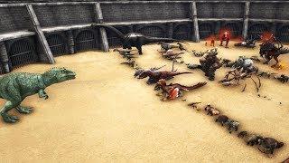 WILD Giganotosaurus VS All other Creatures in ARK (no Titanosaur) || Cantex