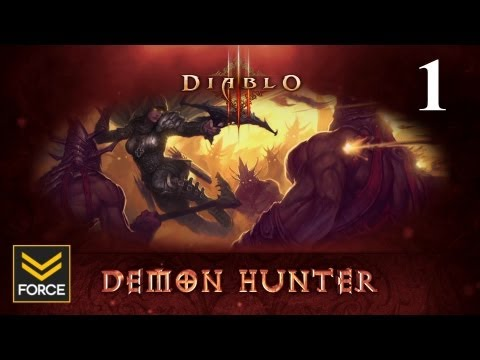Diablo 3 Beta - Demon Hunter Gameplay (Commentary) Part 1