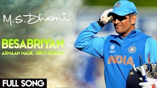 BESABRIYAAN Video Song mashup  M.S.Dhoni - Hindi  Edited By Tej Varun