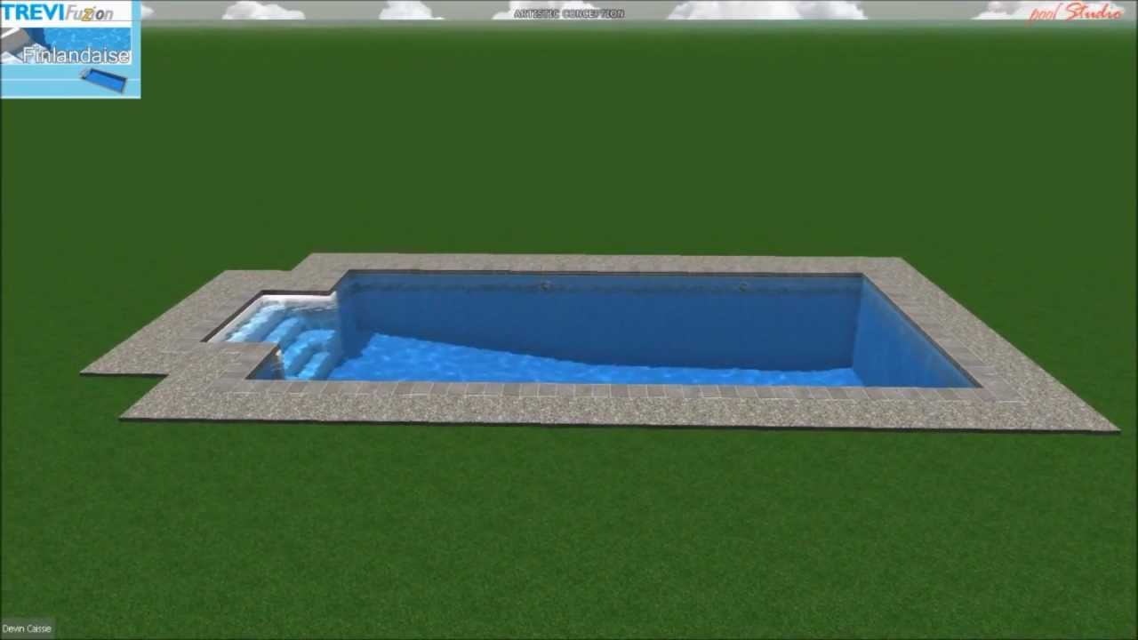 Piscine tr vi fuzion finlandaise youtube for Piscine trevi
