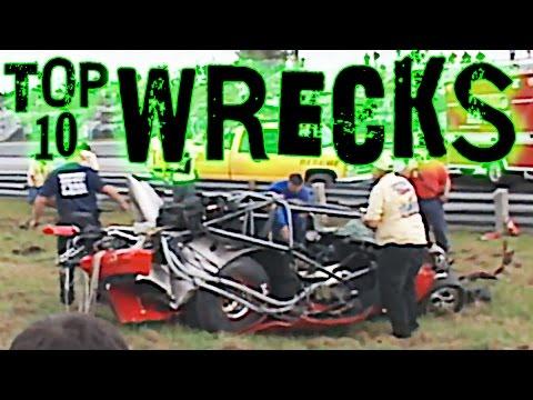 Top 10 Race Car WRECKS!