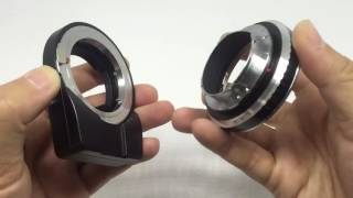 Modify Canon EOS to Leica M Mount Adapter to fit Techart Pro Adapter