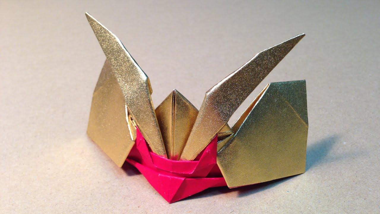Как сделать из бумаги самурайский