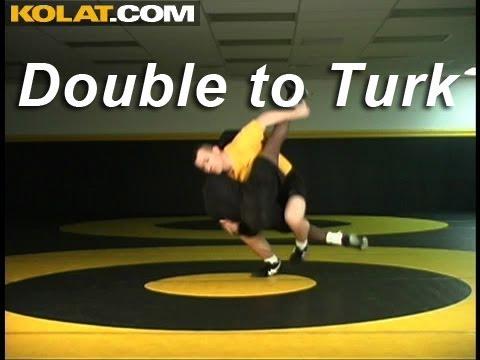 Double to Standing Turk KOLAT.COM Wrestling Techniques Moves Instruction Image 1