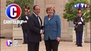 C'est Canteloup - Pour la première fois, François Hollande rencontre Angela Merkel