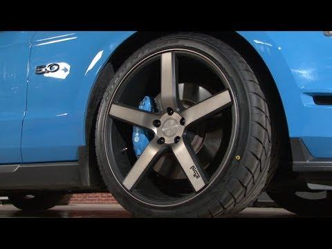 Mustang Niche Milan Wheel Offset Dark Tinted Face With