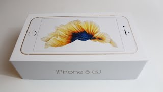 Apple iPhone 6S Unboxing (Gold)