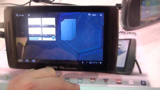 Archos 70b Internet Tablet Hands On - 7inch Honeycomb tablet for 199$ at CES