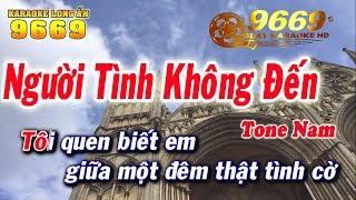 Karaoke Người Tình Không Đến | Tone Nam | Nhạc sống LA STUDIO | Karaoke 9669