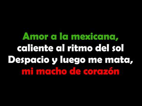 Amor A La Mexicana - Thalía (letra) video