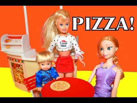 AllToyCollector Barbie Play Doh Pizza Frozen Pizza Hut Restaurant Disney Princess Anna Toby