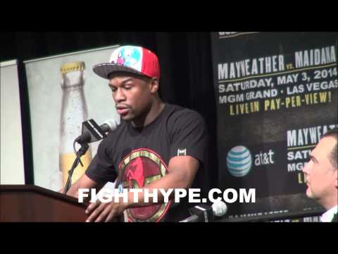 FLOYD MAYWEATHER PRESS CONFERENCE TO OFFICIALLY ANNOUNCE MAY 3 SHOWDOWN WITH MARCOS MAIDANA