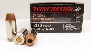 40 S&W Winchester PDX1 165 Grain Bonded JHP Denim and Clear Gel Test