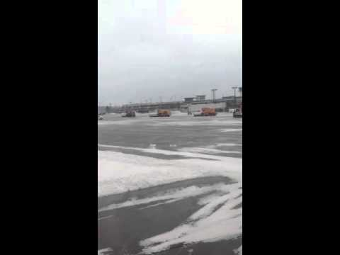 Blue Grass Airport the day after the snow and ice storm on Feb. 3, 2014