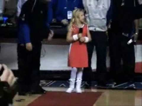 Ariel Moore (The Early Years ) Performing the National Anthem at The Philadelphia 76ers