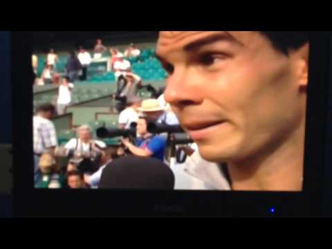 Rafael Nadal Interview with John McEnroe after winning 2014 French Open