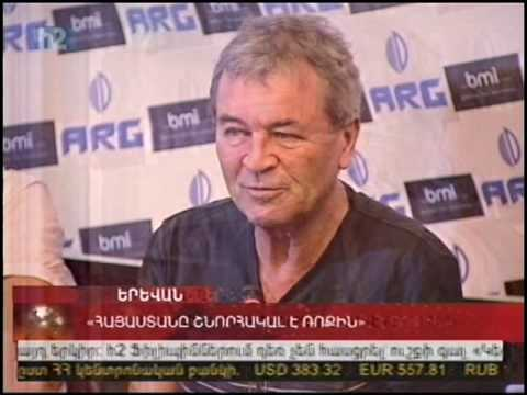 TV news coverage of the Rock Aid Armenia visit (2/10/2009)