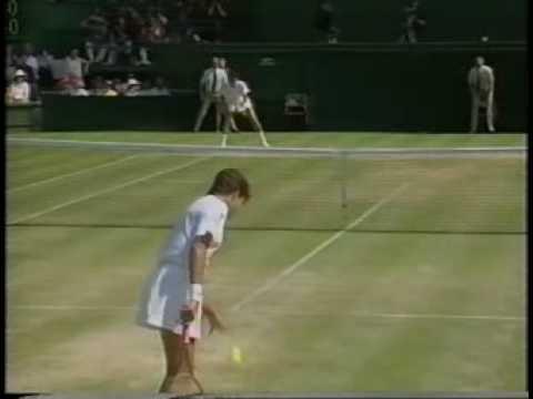 サバティーニ vs カプリアティ ウィンブルドン 1991 SF 1/6
