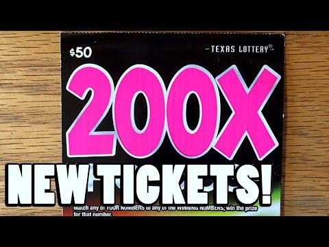 NEW TICKETS! **WIN!** $50 200X The Cash! ✦ TEXAS LOTTERY SCRATCH OFF TICKETS