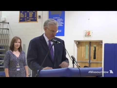 Gov. Nixon recognizes Scott City High School for earning A+ designation