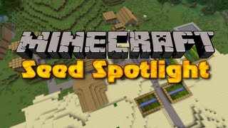 Minecraft 1.4.6 Seed Spotlight #52 - VILLAGE & TEMPLE AT SPAWN, TRIPLE SURFACE RAVINE + DUNGEON!