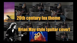 Queen - 20th century fox theme - Brian May style (guitar cover)