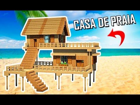 ✔ Minecraft Tutorial : COMO FAZER UMA CASA DE PRAIA!! thumbnail